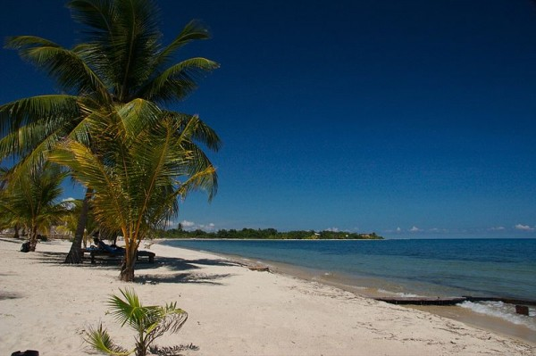 Beach front at Placencia, Belize