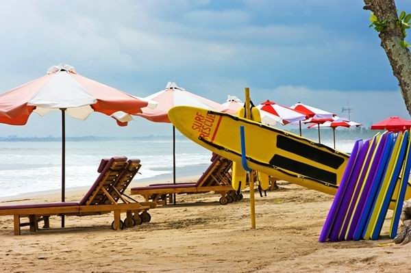 Kuta beach on Bali island